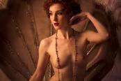 woman in revue shell