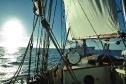Morgensonne auf dem Segelschiff